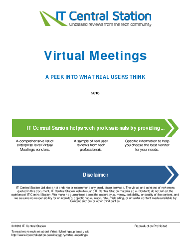 Virtual meetings report from it central station 2016 07 23o59