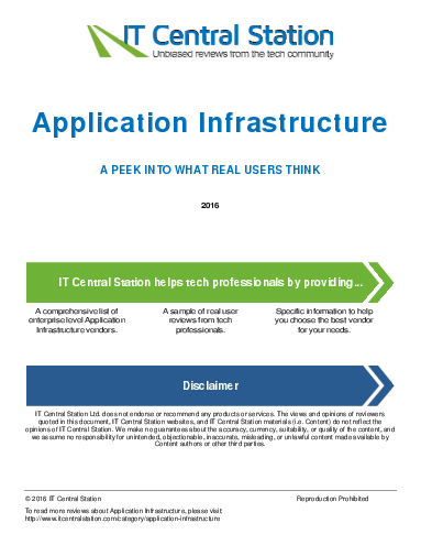 Application infrastructure report from it central station 2016 09 03p2