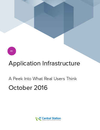 Application infrastructure report from it central station 2016 10 01