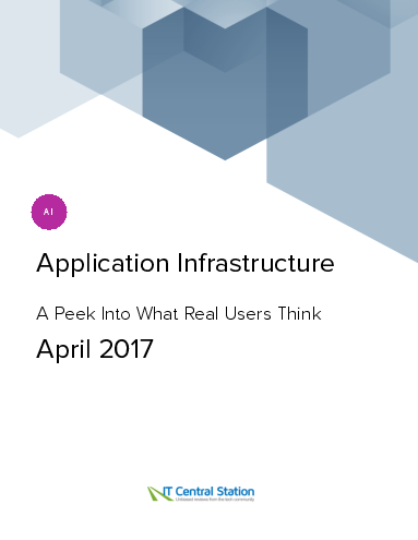 Application infrastructure report from it central station 2017 04 22