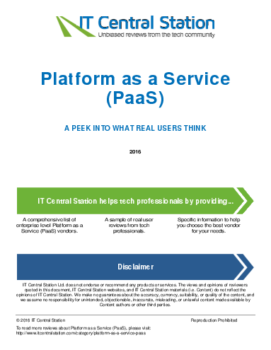 Platform as a service  paas  report from it central station 2016 05 28q14