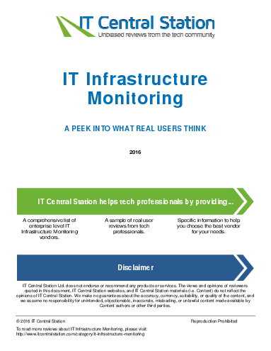 It infrastructure monitoring report from it central station 2016 05 07q18