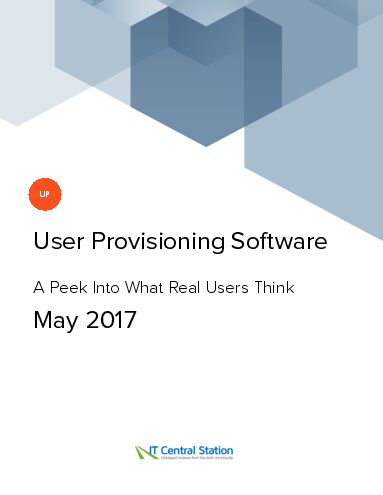 User provisioning software report from it central station 2017 05 27