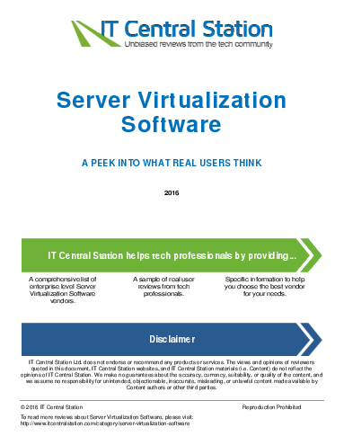 Server virtualization software report from it central station 2016 07 30p4