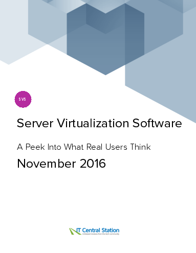 Server virtualization software report from it central station 2016 11 26