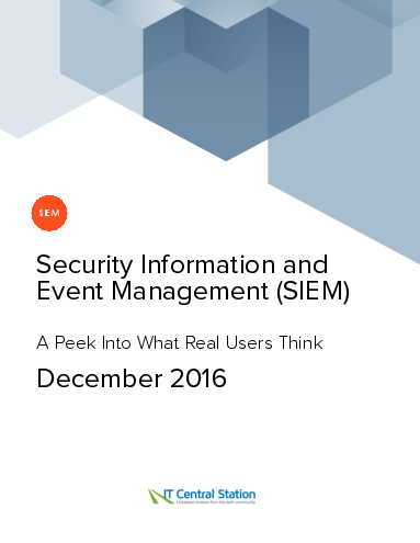 Security information and event management %28siem%29 report from it central station 2016 12 18