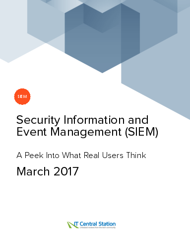Security information and event management %28siem%29 report from it central station 2017 03 18