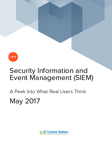 Security information and event management %28siem%29 report from it central station 2017 05 27