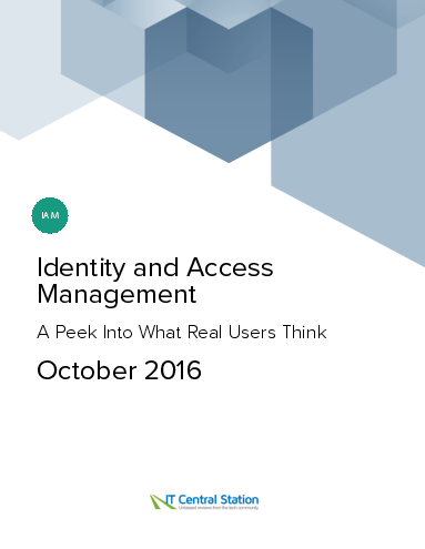 Identity and access management report from it central station 2016 10 01