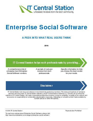 Enterprise social software report from it central station 2016 04 23q22