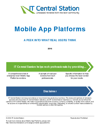 Mobile app platforms report from it central station 2016 05 07q18