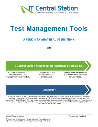 Test management tools report from it central station 2016 07 02p0