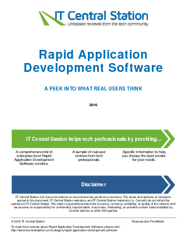 rapid application development When using the rapid application development model, needs can vary greatly to start evaluating platforms, download the business process automation rfi template.