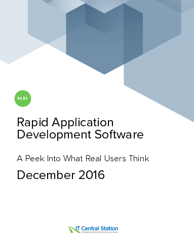 Rapid application development software report from it central station 2016 12 18