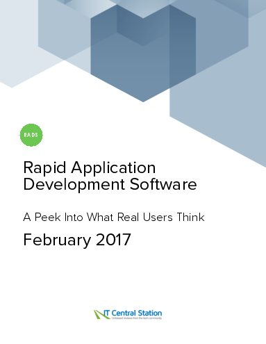 Rapid application development software report from it central station 2017 02 11