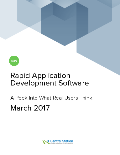 Rapid application development software report from it central station 2017 03 18