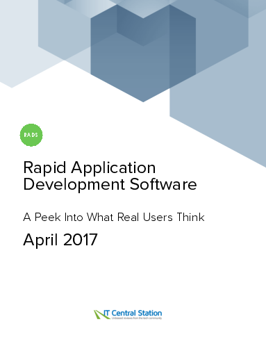 Rapid application development software report from it central station 2017 04 22