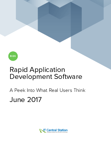 Rapid application development software report from it central station 2017 06 24 thumbnail