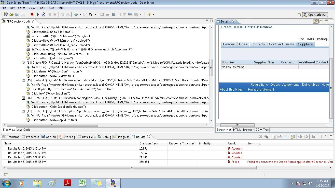 Oracle Application Testing Suite Review: Functionality testing tool