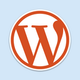 Wordpress logo reasonably small